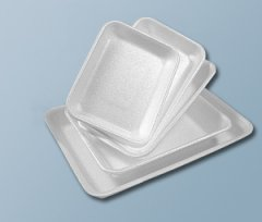 Polystyrene bowls and trays
